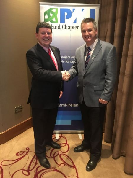 Newly-appointed-President-of-the-Ireland-Chapter-of-Project-Management-Institute-Pat-Lucey-r-with-out-going-President-Niall-Murphy